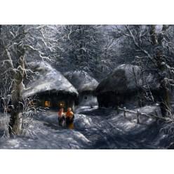 """Картина """"Рождественская ночь"""" – 50 х 70 см."""