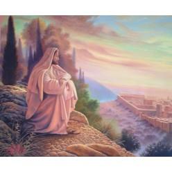 """Картина написанная маслом """"Иисус Христос"""" - 50 x 60 см"""