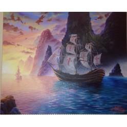 """Картина написанная маслом """"Морская гладь"""" - 50 x 60 см"""