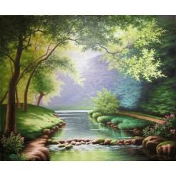 """Картина написанная маслом """"Природа"""" - 50 x 60 см"""