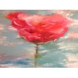 "Картина "" Отражение цветка Мака""  - 100 х 100 см."