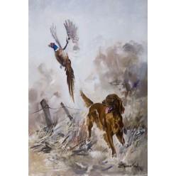 """Картина """"Дантес и фазан"""" – 50 х 35 см."""