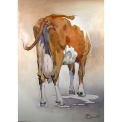 """Картина """"Корова"""" – 140 х 80 см."""