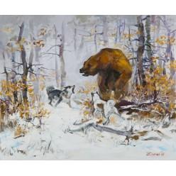 "Картина ""Медведь-шатун"", 50 х 60 см."