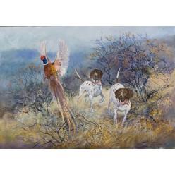 """Красочная картина """"Охота на фазана"""" – 70 х 100 см."""