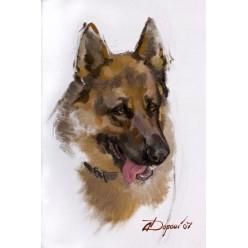 """Картина """"Овчарка Рон"""", 40 х 65 см."""