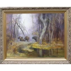"Картина ""В заповедной пуще"" - 100 х 150 см."