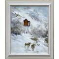 """Картина """"Зима в горах"""" - 50 х 35 см."""