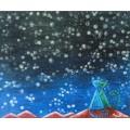 """Картина """"Вечер, звезды и мы вдвоем"""" – 60 х 50 см."""