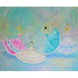"Картина ""Балерины"" – 50 х 60 см, 2014 г."