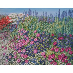 """Картина """"Цветы, пахнущие медом. 2005"""" - 50 x 60 см"""
