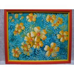 "Картина ""Цветы с бабушкиного ковра. 2005"" - 40 x 50 см"