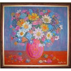 "Картина ""Геометрический букет.2007"" - 50 x 50 см (ГИ-049)"
