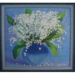 """Картина """"Ландыши. 2006"""" - 40 x 40 см (ГИ-047)"""