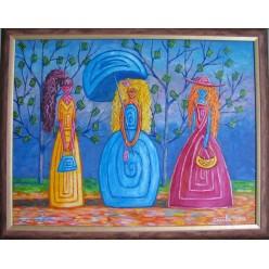 "Картина ""Модницы. 2007"" - 50 x 60 см (ГИ-053)"