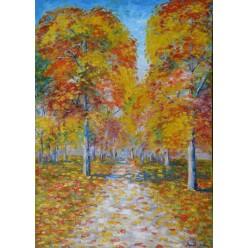 """Картина """"Осень в парке. 2007"""" - 50 x 36 см (ГИ-057)"""