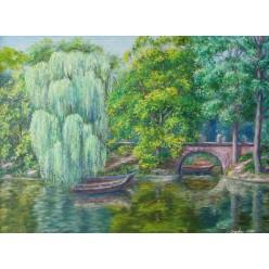 """Картина """"Умань. Мост в парке Софиевка. 2006"""" - 30 x 40 см"""