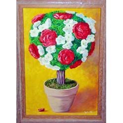 """Картина написанная маслом  """"Вазон. 2006"""" - 50 x 40 см"""