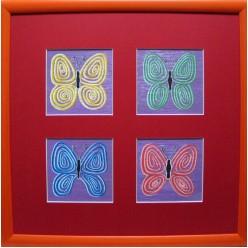 """Картина написанная маслом """"Бабочки с Планеты Ингула. 2005"""" - 30 x 30 см"""