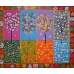 """Картина написанная маслом """"Четыре. 2011"""" - 50 x 60 см"""