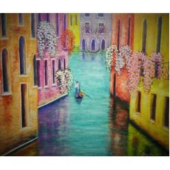"""Картина написанная маслом """"Венеция. 2014"""" - 40 x 50 см"""