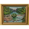 """Картина """"Коростень. Водопад"""" – 40 х 50 см, 2005 г."""