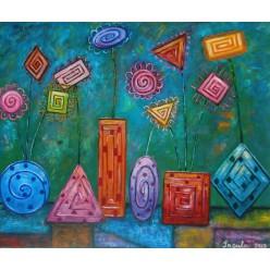 """Картина """"Підвіконня квітникаря"""" – 50 х 60 см, 2013 г."""