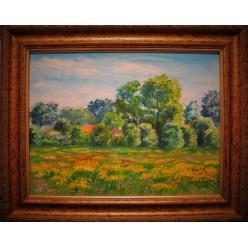 """Картина """"Поля заростають гарними квітами"""" – 60 х 50 см, 2006 г."""