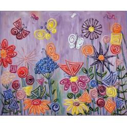 """Картина """"Польові квіти"""" – 50 х 60 см, 2011 г."""