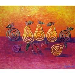 """Натюрморт """"Соковиті ягоди та фрукти"""" – 50 х 60 см, 2013г."""