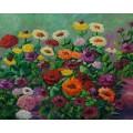 """Картина """"Цинія"""" – 50 х 40 см, 2007 г."""