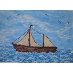 "Картина ""Корабль мечты"" - 30 х 40 см."