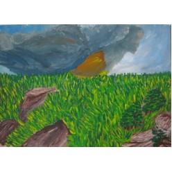 "Картина ""Рождение бури"" - 30 х 40 см."