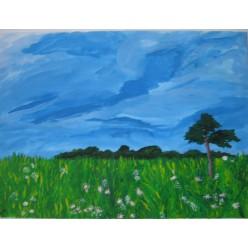 "Картина ""Утреннее поле"" - 30 х 40 см."