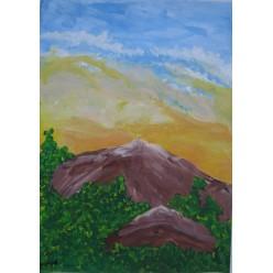 """Картина """"Закат в Карпатах"""" - 30 х 40 см."""
