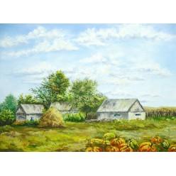 """Картина """"Тыквы"""" – 55 х 40 см, 2012 г."""