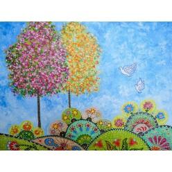 """Удивительная картина """"Сказочный мир"""", - 30 х 40 см, 2014 г."""