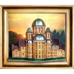 """Картина """"Киев. Ирининская церковь"""" -  35х42см"""