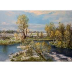 """Картина """"Ранняя весна"""" – 50 х 70 см, 2015 г."""