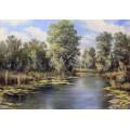 Картина «На реке Тарган» - 50 х 70 см, 2014 г.
