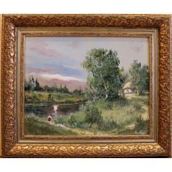 "Картина ""Окраина села"" – 58 х 68 см, 2014 г."