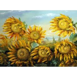 "Картина ""Подсолнухи в поле"" – 60 х 70 см, 2006 г."
