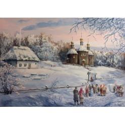 """Картина """"Рождество в Пирогово"""" – 50 х 70 см, 2013 г."""