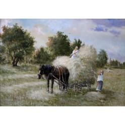 """Картина """"Сбор сена в Пирогово"""" – 50 х 70 см."""