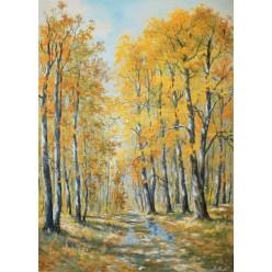 """Картина """"Теплая осень"""" – 50 х 70 см."""