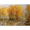 """Картина """"Осенний дождь"""" – 50 х 70 см, 2013 г."""