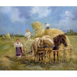 """Картина """"Труженики"""" – 50 х 60 см, 2013 г."""