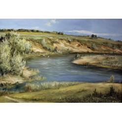 """Картина """"У речки"""" – 50 х 70 см, 2013 г."""