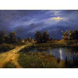 """Картина """"Вечера на хуторе возле Диканьки"""" – 60 х 80 см, 2013 г."""