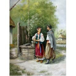"""Картина """"Встреча у колодца"""" – 50 х 70 см, 2013 г."""